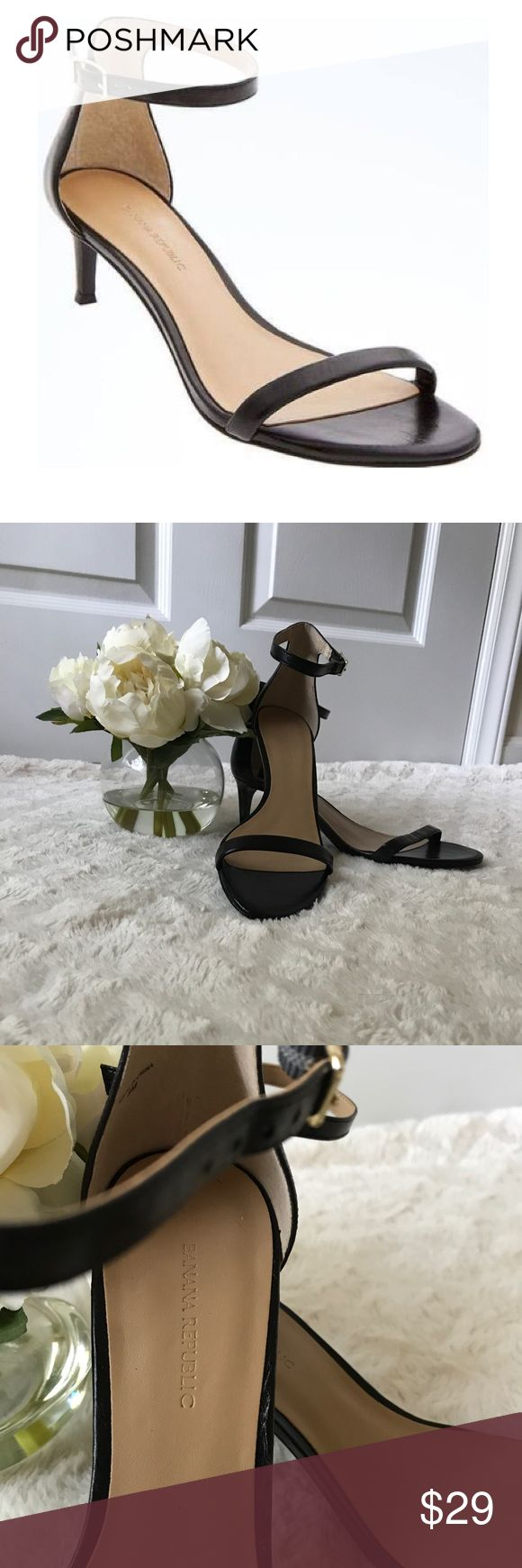 Banana Republic Strappy Black Kitten Heel Sandals Banana Republic Strappy Black Kitten Heel Sandals size 8. Never worn! Banana Republic Shoes Heels
