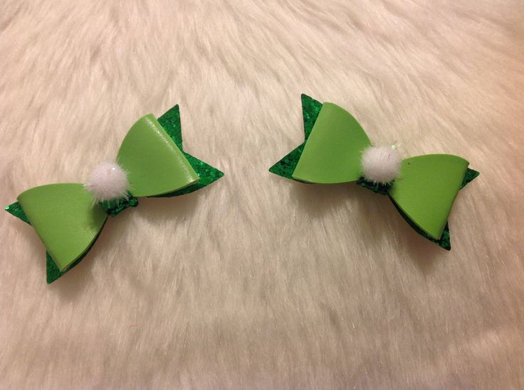 Tinkerbell Inspired Boutique Hair Clips or Shoe Clips by LittleCloverPatch on Etsy