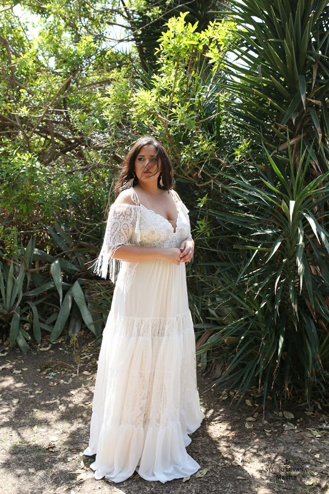 Boho Dreams Plus Size Wedding Gowns Studio Levana Couture Wedding Gowns Nontraditional Wedding Dress Cheap Bridal Dresses Plus Size Elopement Dress