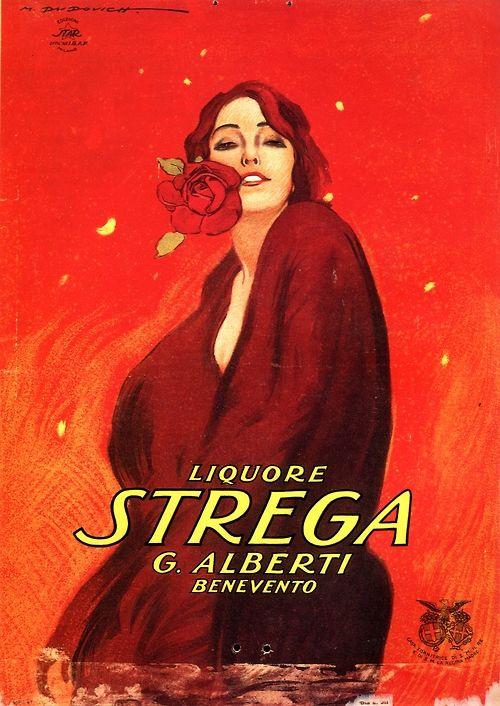 Vintage Italian Posters ~ #Vintage #Italian #posters ~ startwithsunset: Liquore Strenga Marcello Dudovich (1878 – 1962)