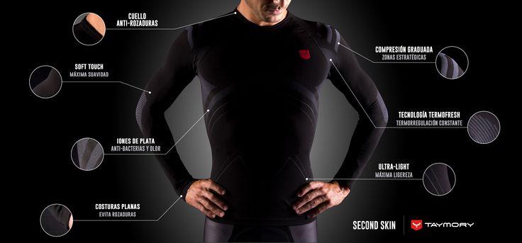 Nuevas camisetas compresivas by Taymory. Siente la tecnología para un máximo rendimiento.