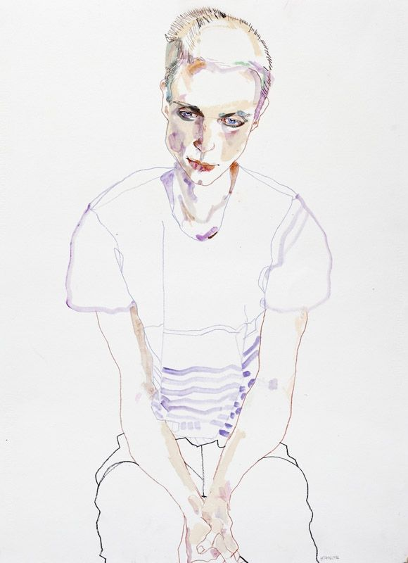 Fashion Illustration by Howard Tangye, pinned by Modeconnect.com