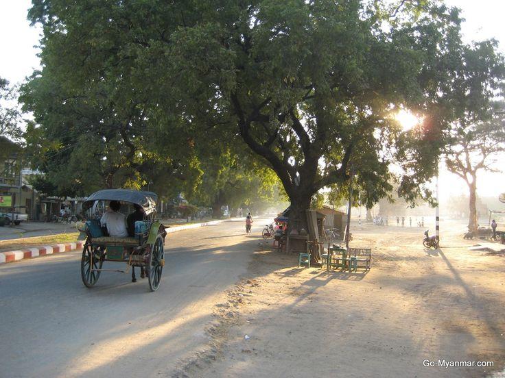 Main Road, Nyaung U, Bagan, Myanmar (Burma). Go here for more information on Nyaung U: www.go-myanmar.com/the-towns-of-bagan
