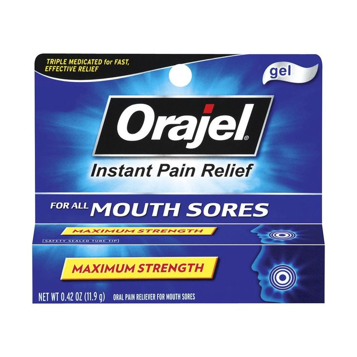 • 20% benzocaine to relieve oral pain <br>• Antiseptic to help prevent infection<br>• Astringent to protect sores<br>• Fast-acting gel<br><br>Orajel Oral Pain Instant Relief Gel combines 3 active ingredients to give you quick canker sore relief. This oral pain reliever also relieves pain caused by cold sores, gum sores, cheek bites and braces.