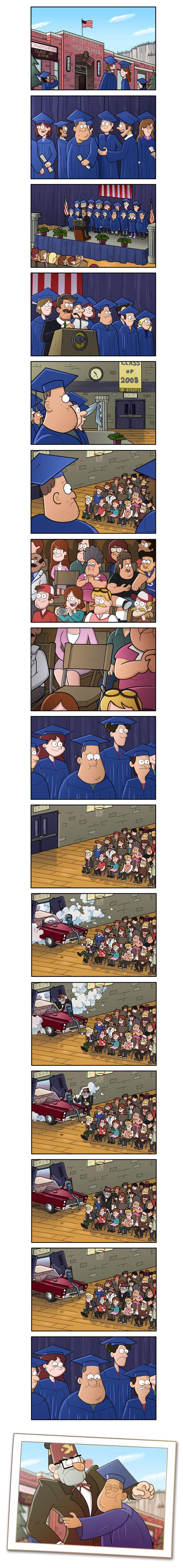 La graduación de Soos Gravity falls♡