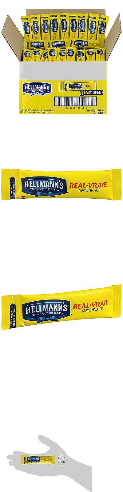 Condiments 134645: Hellmanns Real Mayonnaise Stick Packets, 0.38 Ounce 210 Count -> BUY IT NOW ONLY: $32.58 on eBay!