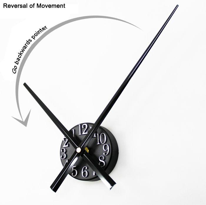Go Backwards Pointer  Wall Clock 3D Digital time-scale Point Wall Clock  Reversal Jump a stopwatch Clock