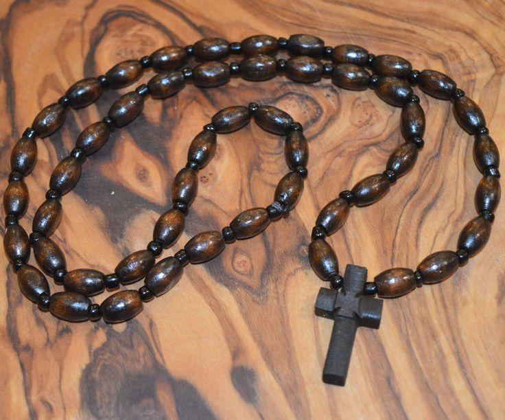 Handmade Greek Orthodox Christian Byzantine Rosarie 50 Wood Beads
