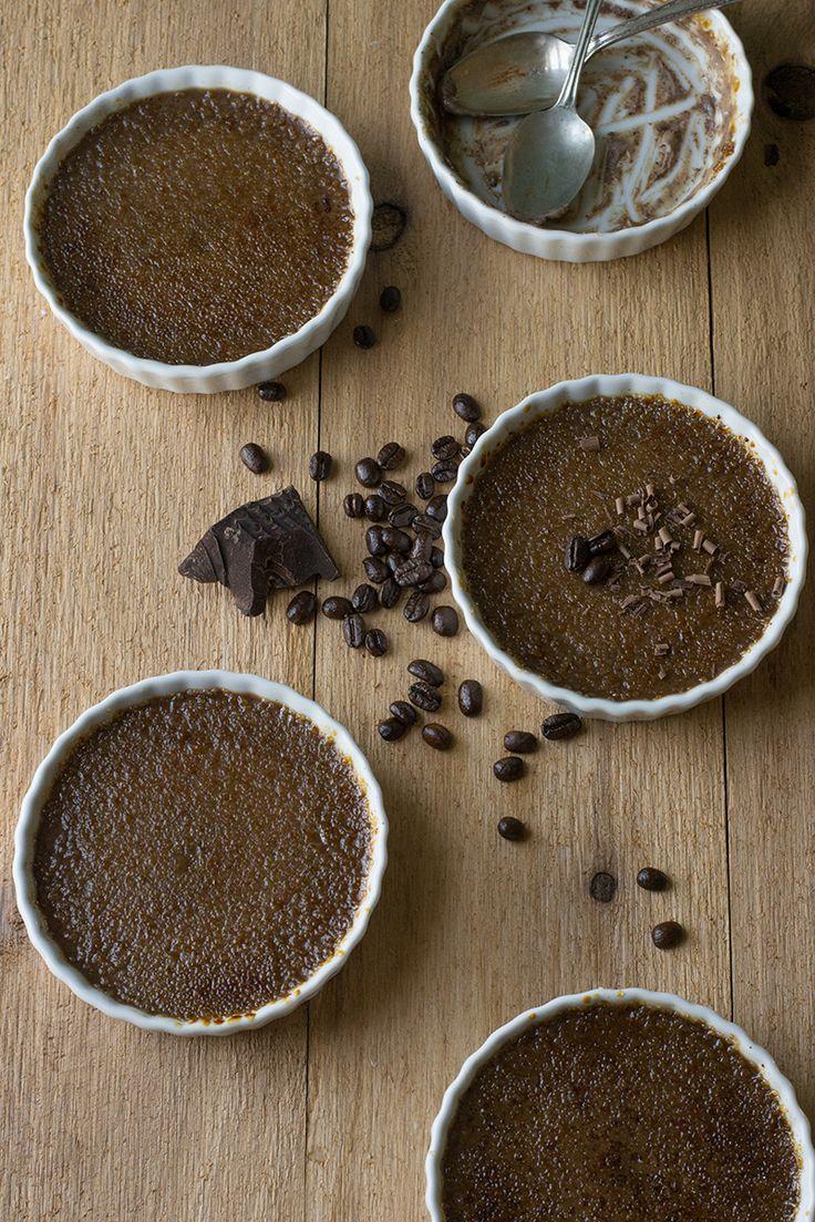 Chocolate Espresso Crème Brûlée   siftandwhisk.com