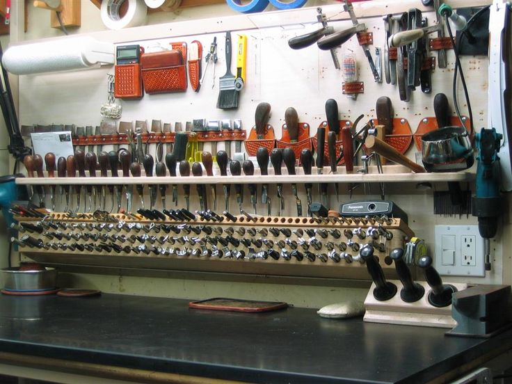 leather tool organization