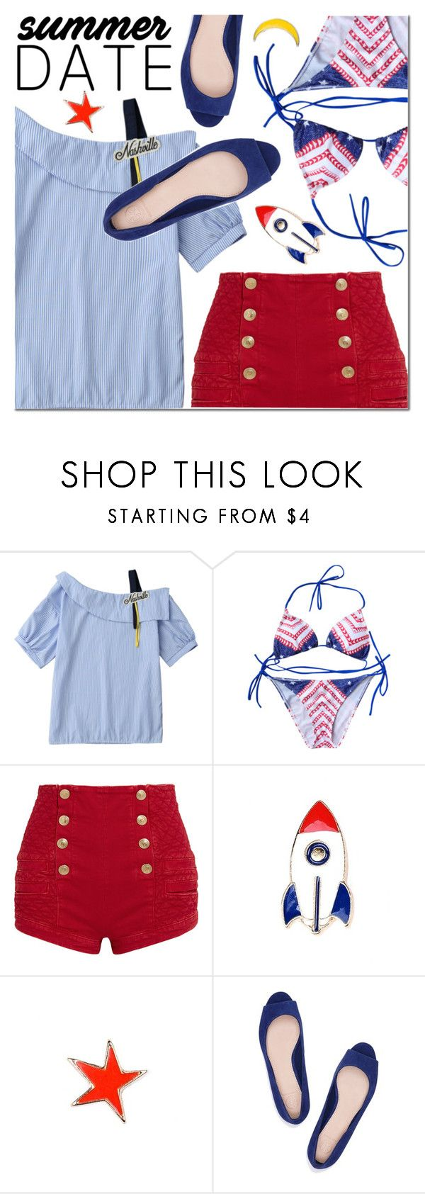 """""""Untitled #2785"""" by mada-malureanu ❤ liked on Polyvore featuring Pierre Balmain and Tory Burch"""