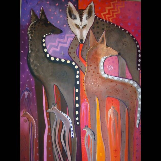 "SOLD: Migration / 48"" x 36"" / acrylic on canvas by Virginia Maria Romero"