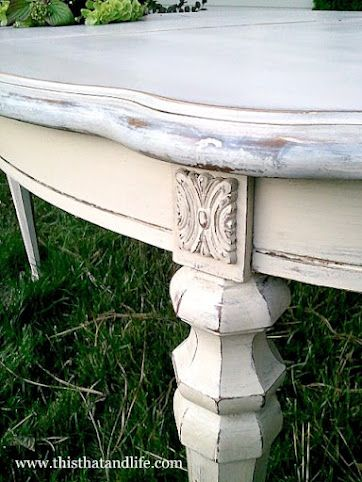 French dining table, idea for repainting the table and hutch