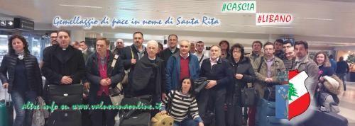"""In Libano per celebrare il 57 esimo """"Gemellaggio di Pace"""" nel nome di Santa Rita"""
