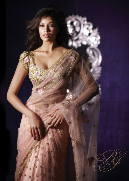 Soft Pink Tulle saree with Pink floral embroidery taraanacouture@gmail.com