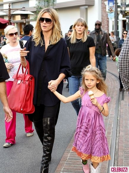 Heidi Klum and daughter Leni Klum