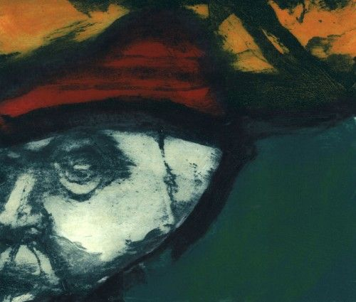 Hughie O'Donoghue: Red Bonnet, etching,  €800 @ www.inisink.ie