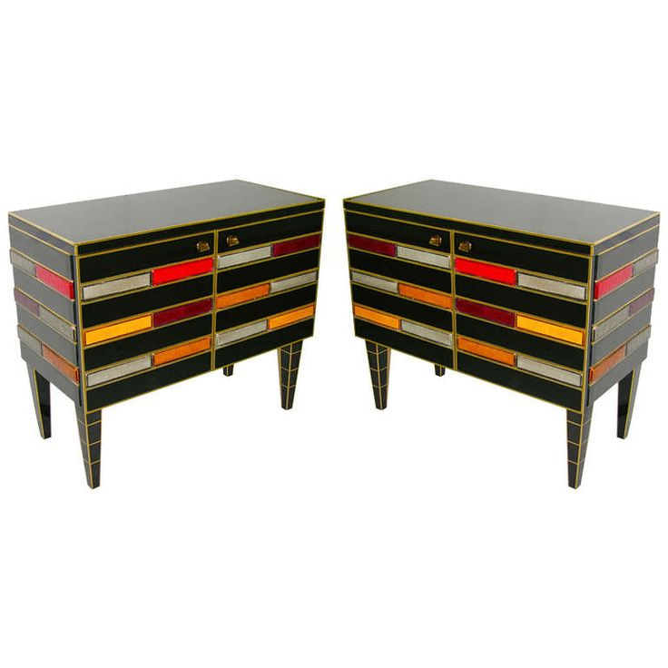 Best Glass Sideboard Ideas On Pinterest Glass Shelves For - Colorful glass drawers that can form an art object