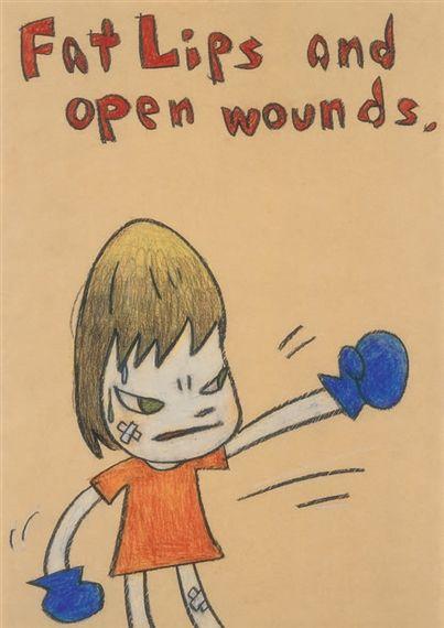 Yoshitomo Nara, Fat Lips and open wounds