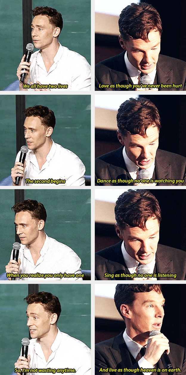 Tom Hiddleston and Benedict Cumberbatch ~ Are you two fucking kidding me??
