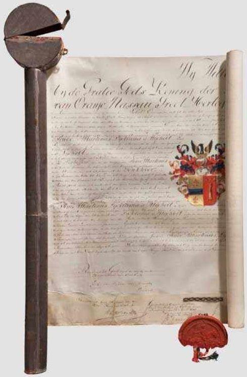 Afb. 1. Het adelsdiploma Lycklama à Nijeholt uit 1817.