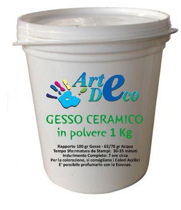 Paste, Malte e Polveri : Gesso Ceramico 1 Kg