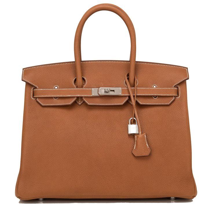 Hermes Birkin Bag 35cm Barenia Faubourg Palladium Hardware Image 1