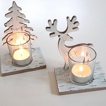 Reindeer and Tree Tealight Holders