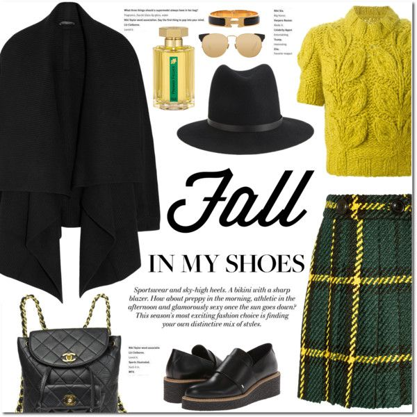 Fall in my shoes by stellaasteria on Polyvore featuring Alexander McQueen, Maison Margiela, Miu Miu, Y's by Yohji Yamamoto, Chanel, Hermès, rag & bone, Linda Farrow, L'Artisan Parfumeur and H&M