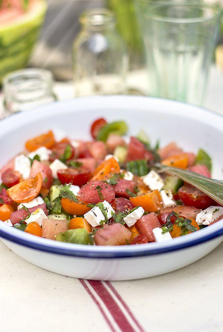 This Watermelon-Tomato Salad Screams Summer