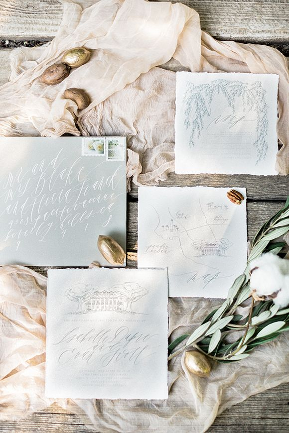 Love this beautiful invitation set. The calligraphy and hand drawings look amazing.