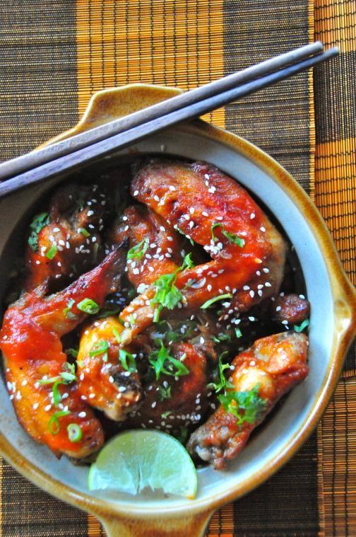 Chicken Recipes : Spicy Sriracha Sesame Chicken Wings Recipe   recipes ...