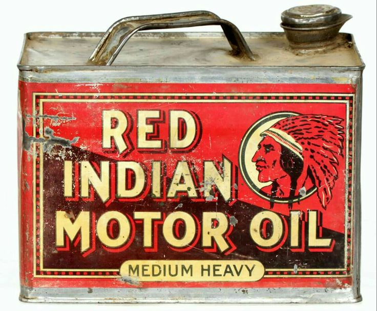 Rare Red Indian Motor Oil Can