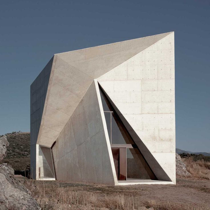 Prismatic chapel in Almadén http://www.morfae.com/prismatic-chapel-in-almaden/ #architecture #modern #chapel #church #concrete