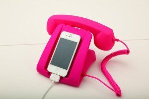 Pink Talk Dock Mobile Device Handset and Charging Cradle:Amazon:Cell Phones & Accessories