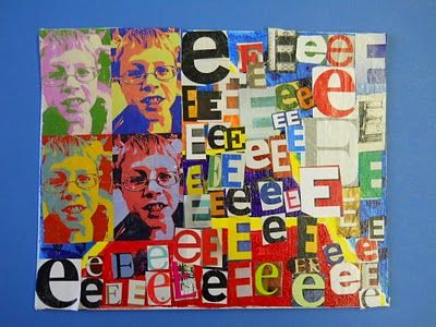 Andy Warhol Pop art project. I did this last year and my 5th graders LOVED it