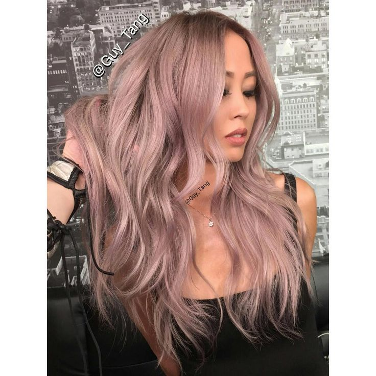 """""""In love with my antique rose hair @guy_tang #guytangfavorites #metallicobsession"""""""