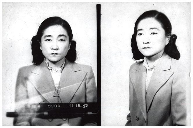 U.S.-born Iva Toguri D'Aquino, who was dubbed 'Tokyo Rose' for broadcasting anti-American propaganda from Japan during World War II, was convicted of treason and sent to federal prison for about seven years (this picture was taken at the lockup in Alderson, West Virginia). D'Aquino was pardoned by President Gerald Ford in 1977.