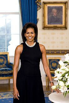 Michelle Obama - fashion icon, role model, mother and advocate for poverty awareness, nutrition and healthy eating #FirstLady #Advocacy #DemocraticParty