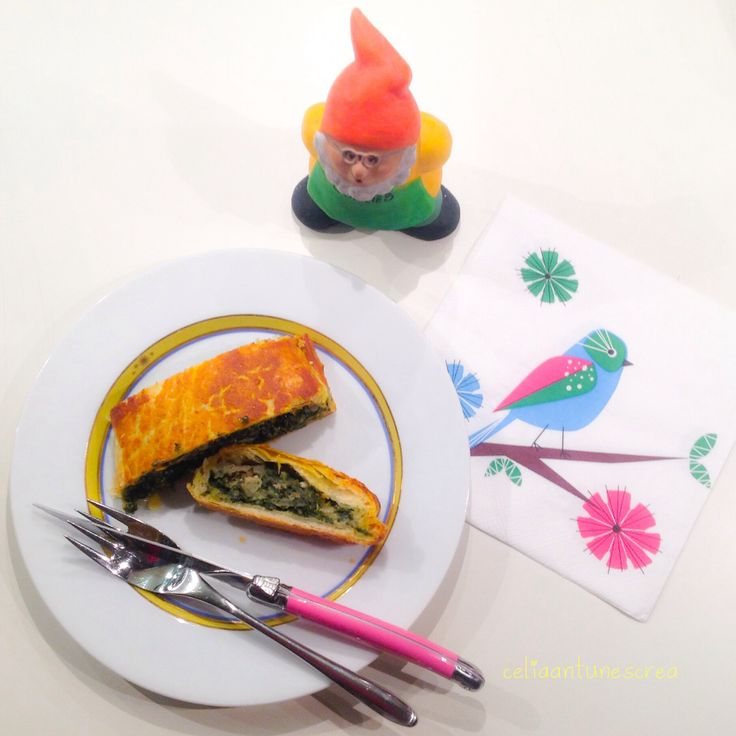 """Spinatstrudel #selfmade #DIY~ Rezept aus Philip Hochulis Kochbuch """"Junge vegane Küche"""" sehr einfach und lecker!"""