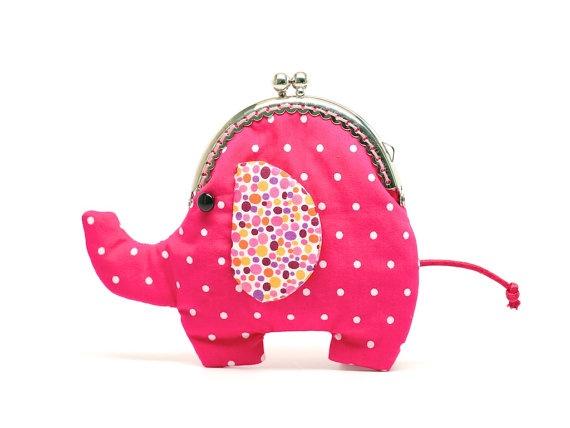 Little ruby red elephant clutch purse by misala on Etsy, $24.90
