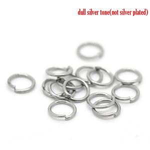 Image of 1000PCs Silver Tone Stainless Steel Open Jump Rings 5.0mm Dia.