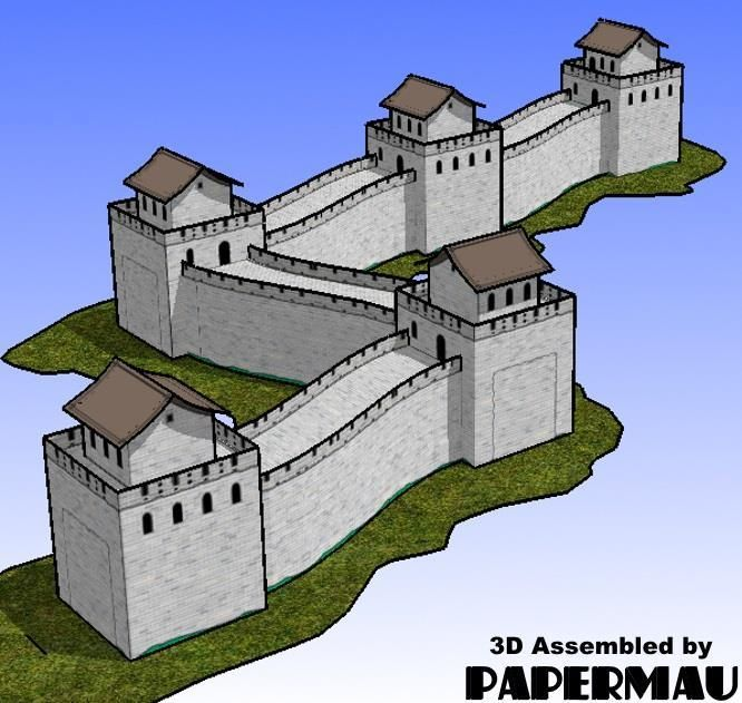 The Great Wall Of China Paper Model By Paper Toys Com Paper