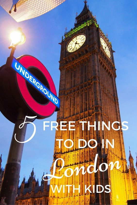 Big Ben is one of the attractions and one of the free things to do in London with kids