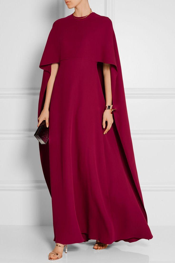 VALENTINO Cape-back silk-crepe gown $7,690.00