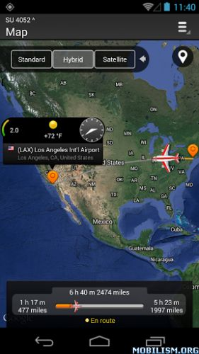 Airline Flight Status Tracker v2.2.9Requirements: 4.0.3 and upOverview: ✈ FlightHero is a flight-tracking app that provides a real time flight status information and helps you to know flight status, lets you to track a flight. Aware of the fact that...