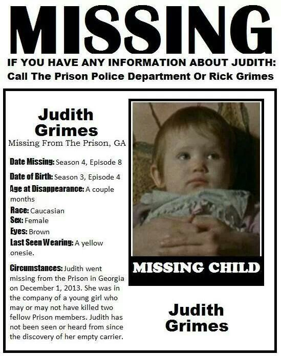 The Walking Dead. Judith Grimes. | The walking dead ...