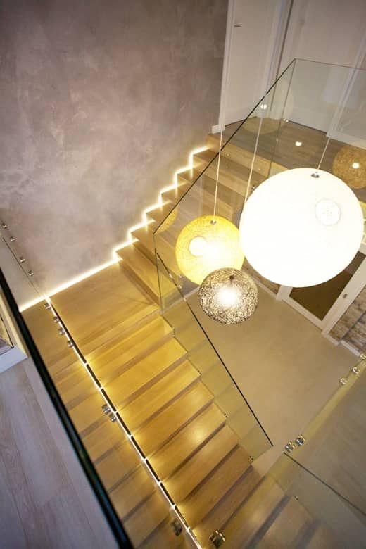 Iluminação da escada: 8 ideias legais   – Suahneppert