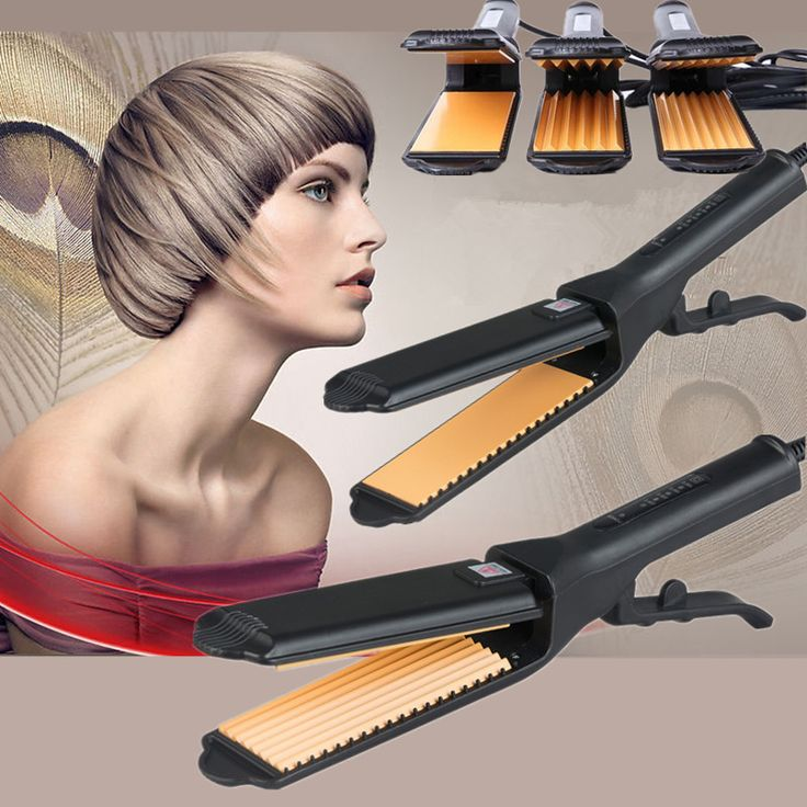 Professional Hair straightener Curling Crimper Small Curler Corrugated Hair Curler Roller Iron