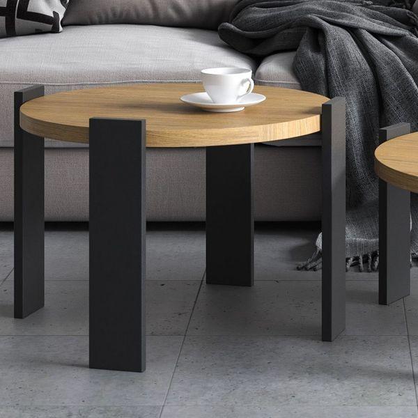 Ensemble De 2 Tables Basses Chene Massif En 2020 Table Basse Table Basse Chene Massif Table Basse Style Scandinave